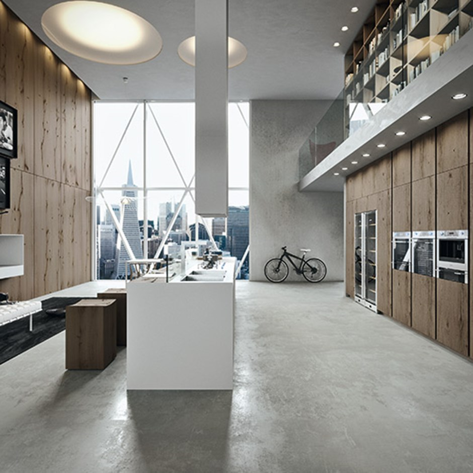 Tall kitchen wall units
